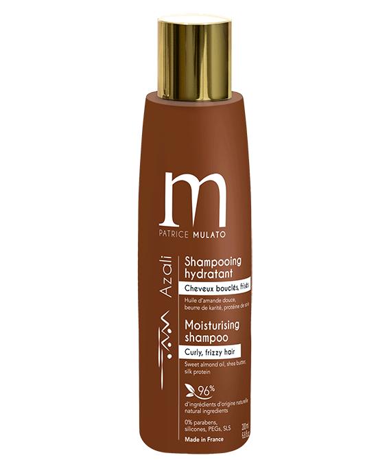 Champú hidratante para cabellos rizados y encrespados